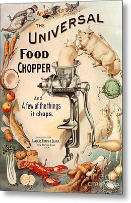 1899 1890s Usa Food Choppers Mincers Metal Print by The Advertising Archives