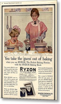 1917 1910s Usa Cooking Ryzon Baking Metal Print