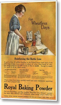 1918 1910s Usa Cooking Royal Baking Metal Print by The Advertising Archives