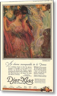1918 1910s Usa Djer-kiss Talcum Metal Print by The Advertising Archives