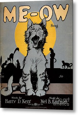1920s Usa Cats Me-ow Meow Metal Print by The Advertising Archives
