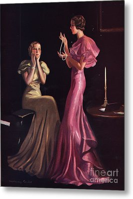 1930s Uk Womens Evening Gowns Dresses Metal Print by The Advertising Archives
