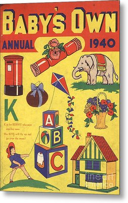 1940 1940s Uk Babies Own Annuals S Metal Print by The Advertising Archives