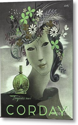 1940s France Corday   Womens Metal Print by The Advertising Archives