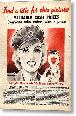 1940s Uk Skin Care Antiageing Anti Metal Print by The Advertising Archives