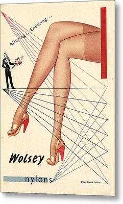 1940s Uk Wolsey Womens Hosiery Metal Print by The Advertising Archives