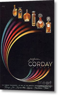 1940s Usa Corday   Womens Metal Print by The Advertising Archives