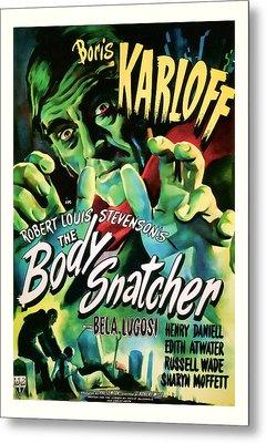1945 The Body Snatchers Vintage Movie Art Metal Print