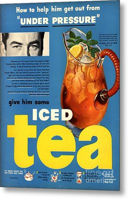 1950s Usa Iced Tea Metal Print by The Advertising Archives