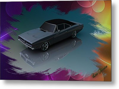 1969 Dodge Charger Metal Print by Louis Ferreira