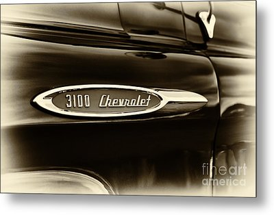3100 Chevrolet Truck Sepia Metal Print by Tim Gainey