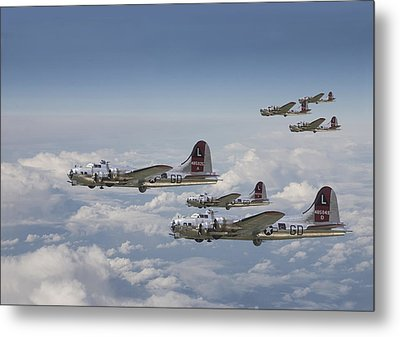 381st Group Outbound Metal Print by Pat Speirs