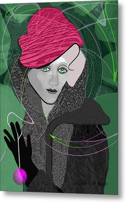 692 - December Lady ... Metal Print by Irmgard Schoendorf Welch