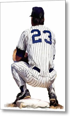 A Moment To Remember II Don Mattingly  Metal Print by Iconic Images Art Gallery David Pucciarelli