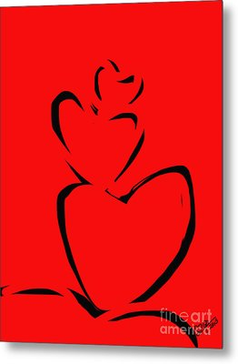 A Stack Of Hearts Metal Print by Go Van Kampen