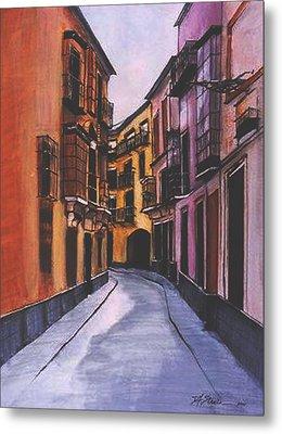 A Street In Seville Spain Metal Print
