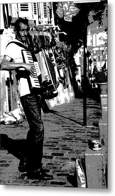 Accordioniste Metal Print by Jacqueline M Lewis