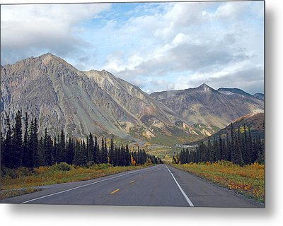 Metal Print featuring the photograph  Along The Parks Highway  by Dyle   Warren