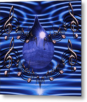 Angelic Sounds On The Waves Metal Print by Barbara St Jean