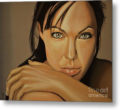 Angelina Jolie 2 Metal Print by Paul Meijering