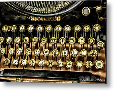 Antique Keyboard Metal Print by Christopher Holmes