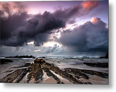 Around The World On A Boat Rock Metal Print by Edgar Laureano