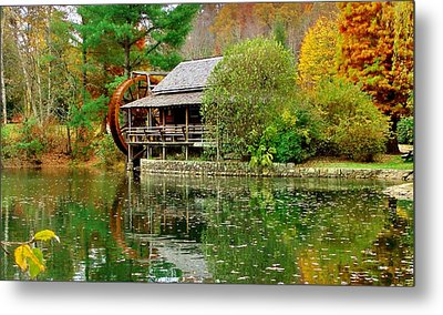Autumn's Reflection Metal Print by Hominy Valley Photography
