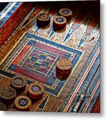 Backgammon Metal Print