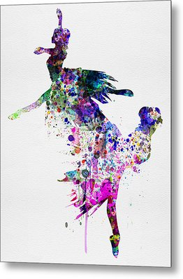 Ballet Watercolor 3 Metal Print