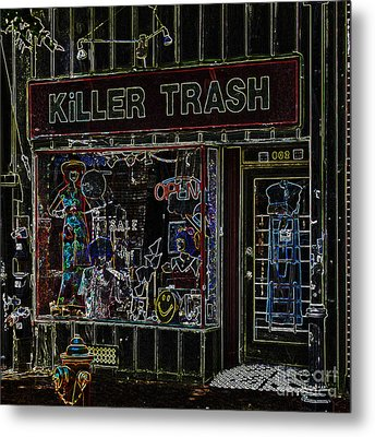 Baltimore Storefront Impression Metal Print by Phil Cardamone
