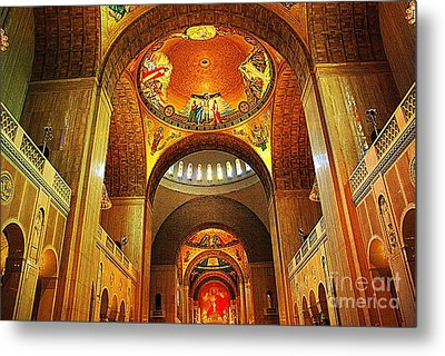 Metal Print featuring the photograph  Basilica Of The National Shrine Of The Immaculate Conception by John S