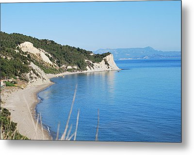 Metal Print featuring the photograph  Beach by George Katechis