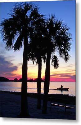 Metal Print featuring the photograph  Beach Sunset by Aimee L Maher Photography and Art Visit ALMGallerydotcom