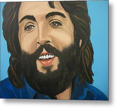 Bearded  Paul Mccartney Metal Print