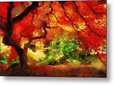Metal Print featuring the painting  Beautiful Autumn by Georgi Dimitrov