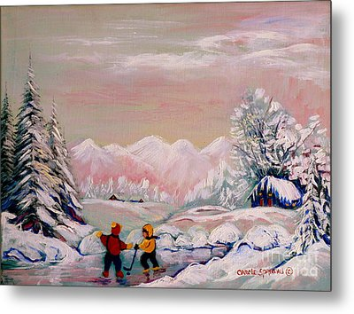 Beautiful Winter Fairytale Metal Print by Carole Spandau