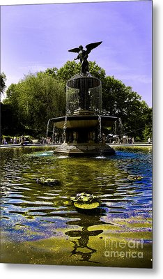 Bethesda Fountain - Central Park  Metal Print by Madeline Ellis