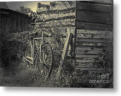Metal Print featuring the pyrography  Bicycle by Evgeniy Lankin