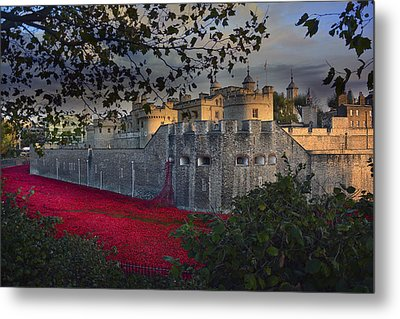 Blood Swept Lands And Seas Of Red. Metal Print