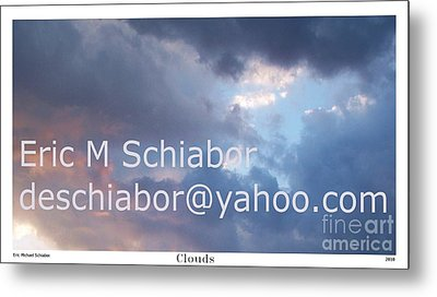 Blue And Purple Parting Clouds Print Metal Print by Eric  Schiabor