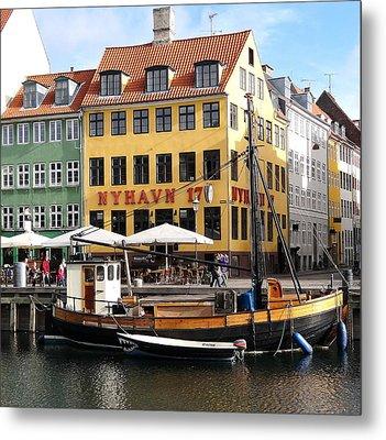 Boat In Nyhavn Metal Print