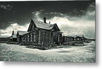 Bodie Ghost Town Panorama 02 Metal Print by Gregory Dyer