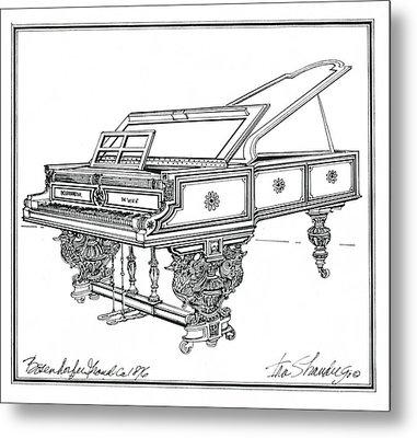 Bosendorfer Centennial Grand Piano Metal Print by Ira Shander