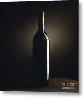 Bottle Of Bordeaux Wine Metal Print by Bernard Jaubert