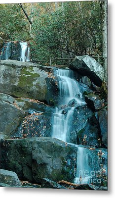 Metal Print featuring the photograph  Bottom Of Laurel Falls by Patrick Shupert