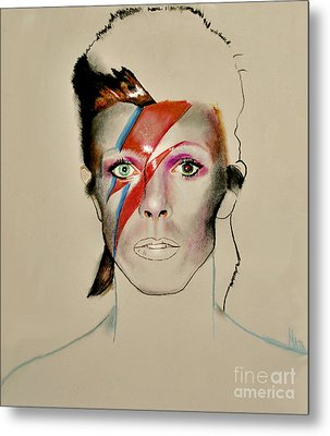 David Bowie Metal Print by Maja Sokolowska