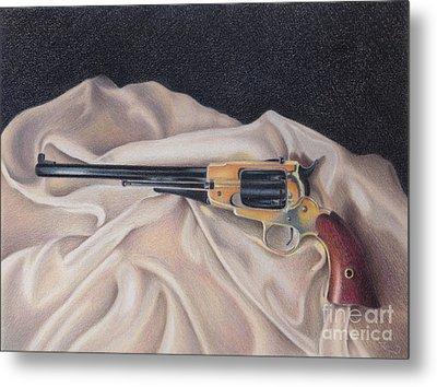 Buffalo Blackpowder Revolver  Metal Print by Elizabeth Dobbs