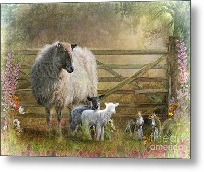 By The Gate Metal Print
