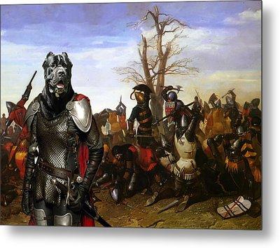 Cane Corso Art Canvas Print - Swords And Bravery Metal Print