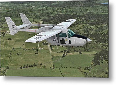 Cessna 0-2a Skymaster Metal Print by Walter Colvin